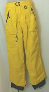 Foursquare Ski/Snowboard Pant S Yellow Mens Fully Lined Techfour VGUC