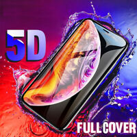 Apple iPhone X XS Max 7 8 Plus 5D Full Coverage Tempered Glass Screen Protector
