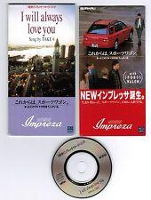 "SUBARU Impreza Novelty TAKE 6 I Will Always Love JAPAN PROMO-ONLY 3""CD w/INSERT"