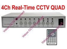 4 Channel 120fps Real-Time CCTV Color Quad Processor Multiplexer for CCTV Camera