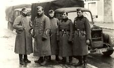 WWII German Large RPPC- Army Soldier- Mercedes Truck- KFZ- Unit Marked- Winter