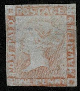 Mauritius 1848 SG23 1d Red Latest Impression Unused Cat. £6500.00