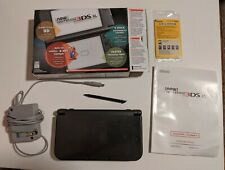 Nintendo New 3DS XL 4GB Black Handheld System CIB