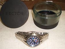 Sector Orologio cronografo chrono uomo acciaio con scatola funzionante