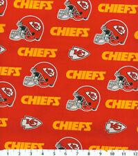 NFL KANSAS CITY CHIEFS FOOTBALL - HELMET 100% Cotton Fabric 1/4 yd, 9
