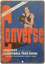 """1942 - 1943 Converse Basketball Yearbook RARE 10"""" x 7"""" Reproduction Metal Sign"""