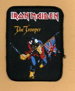 Iron Maiden Trooper vintage 1980s SEW ON PATCH