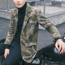 Men's Fashion Lapel Camouflage Blazer Casual Slim Suit Coat Youth Party Jacket