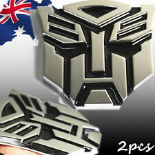 2pcs 3D Chrome Emblem Car Transformer Sticker Autobot Badge Stickers VSTIC2501x2
