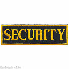 Security Gold Safety Police Law Enforcement Staff Service Iron-On Patches #P025