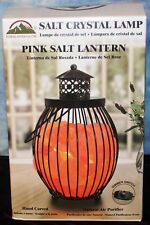 "Himalayan Glow Pink Crystal Salt Lantern Lamp ""Light Ionic Natural Air Purifier"""