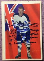 *SIGNED* 1963-64 Parkhurst #75 *DAVE KEON*~ *5 INSCRIPTIONS* ~ *VGEX* (3rd Card)