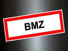 1 x Aufkleber Brandmeldezantrale Brandmeldeanlage Brand Feuerwehr Hinweis BMZ