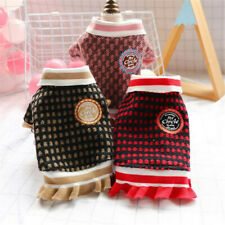 Warm Pet Cat Dog Dress Winter Puppy Clothes Small Chihuahua Coat Cute Outfit
