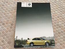 BMW M3 COUPE & M3 CONVERTIBLE PRESTIGE SALES BROCHURE 2004 USA EDITION