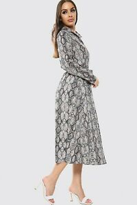 New Womens Maxi Long Printed Button Belted Detail Shirt Ladies Dress Size 8-14