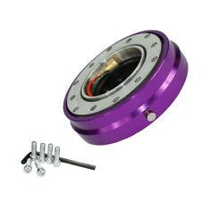 Universal Car Steering Wheel Quick Release Hub Adapter Snap Off Boss Kit Purple