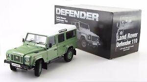 1:18 Land Rover Defender D110 One Ten Dorlop Diecast Light Green (RHD) NEW