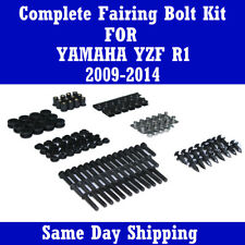 Complete Black Fairing Bolt Kit Body Screws for Yamaha 2009-2014 YZF R1
