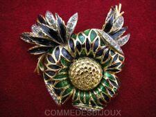 """Broche """"Néo Classique"""" comme un Ananas Enrubanné N° 1 - Bijoux Vintage Sphinx"""