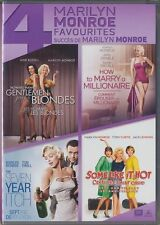 4 Marilyn Monroe Favourites (DVD, 2014, Canadian) BRAND NEW