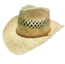 Ladies Girls Cowboy Straw Summer Sun Hat Beach Handmade Classic Hawaii Travel UK