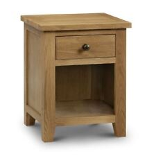 Happy Beds Marlborough Oak 1 Drawer Bedside Table Cabinet Furniture Storage