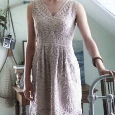 Anthropologie Yoana Baraschi Veiled Alder Dress Size 6 Nude Cocktail Wedding