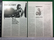 Jean-Luc Ponty and Darryl Way page magazine feature // violin electric fiddle