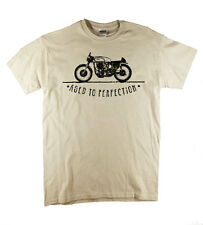 BSA Norton Triumph Aged...Classic T-Shirt Biker Motorcycle Retro Natural Tee