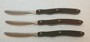 Lot Of (3) Vintage CUTCO Table Steak Knives Knife Classic No. 59 2147079 Used