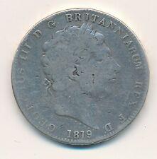 GREAT BRITAIN CROWN 1819 GEORGE III  KM 675  -  VG