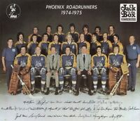 WHA 1974 - 75  Defunct Phoenix Roadrunners Color Team Pic 8 X 10 Photo Picture