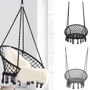 Comfort Hanging Hammock Rope Swing Chair Macrame Soft Indoor Outdoor Garden Seat