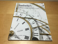 Magazine SOTHEBY'S Important Clocks, Watches, Wristwatches and Mechanical Music