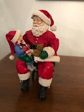 Midwest Importers Santa Claus with child on knee, Vintage with box