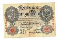 1914 German Empire 20 Mark Banknote