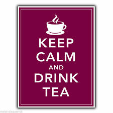 Metal sign wall plaque-keep calm and drink tea-imprimé poster photo pendaison