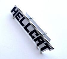 Black & Silver Hellcat Emblem & Mounting Plate Dodge Charger Challenger Grille