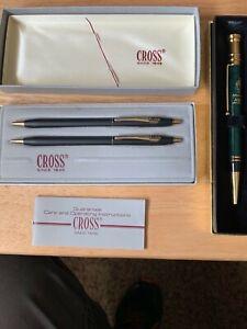 Lot- CROSS #250105 Black Kodak Pen & 0.5m Pencil box set + AT&T '96 Atlanta pen