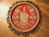 Religious  19th-century French antique gold metallic embroidery