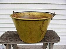 """Dated 1868 Hayden Ansonia 9 1/2"""" Brass Bucket Kettle"""