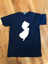 NY HOME VERY COOL NEW JERSEY STATE [NAVY] ++T TEE SHIRT! VERY recognizable ICON