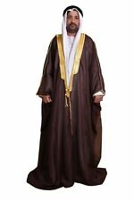 DARK BROWN BISHT CLOAK ARAB DRESS THOBE SAUDI MENS ROBE EID