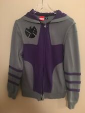 4bbe0ed9ca Marvel Agents of SHIELD Hoodie Sweatshirt Gray Purple Full Zip Size Small