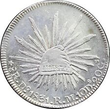 Mexico 8 Reales Do 1831 R.M. Durango, Uncirculated. KM# 377.4