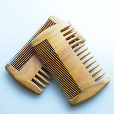 Wood Comb Wooden Pocket Beard Comb Handmade Coarse Wide Fine Tooth Hair Comb JK