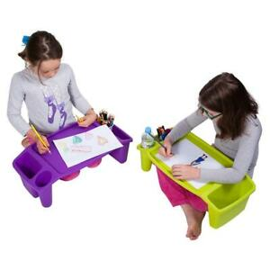1/5 Student Kids Lap Desk Plastic Tray Gift Study Learning Home Classroom AU