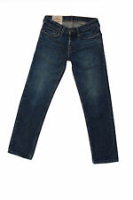 Hollister California Mens Faded Blue Denim Jeans Straight Leg W28 L30 LOOK!