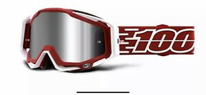 100% Racecraft + Cycle Bike Goggles Gustavia / Injected Silver Mirror Lens